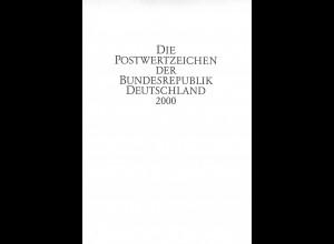 Die Postwertzeichen der Bundesrepublik Deutschland 2000. Ministerbuch der DP