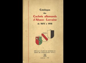 Catalogue des Cachets allemands d'Alsace-Lorraine de 1872 à 1918 (1952)