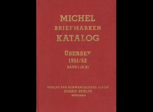MICHEL Briefmarken Katalog Übersee 1951/52 Band 1 + 2