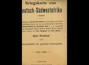 Kriegskarte von Deutsch-Südwestafrika (1904). Blatt Windhuk