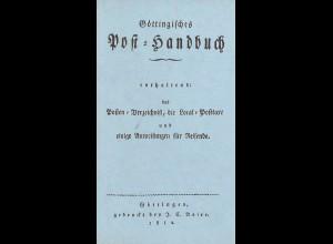 Göttingisches Post-Handbuch 1812 (Reprint)