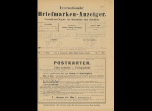 Internationaler Briefmarken-Anzeiger: Nr. 1/1893
