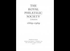 RPSL: The Royal Philatelic Society London 1869–1969 (1969, normal edition)