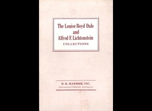The Louise Boyd Dale and Alfred F. Lichtenstein Collections compl.