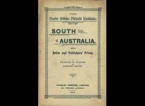 Francis H. NapierSouth Australia with Notes and Publisher's Prices (1894)