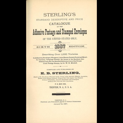 Catalogue of the Adhesive Postage and Stamped Envelopes of the USA (1887)