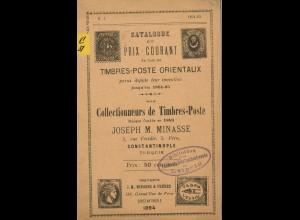 Joseph M. MinasseCatalogue et Prix-Courant de tous les Timbres-Poste Orientaux