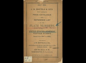 Catalogue and Reference List of the Plate Numbers of US POSTAGE STAMPS