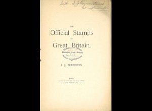I. J. BernsteinThe Official Stamps of Great Britain (1906)
