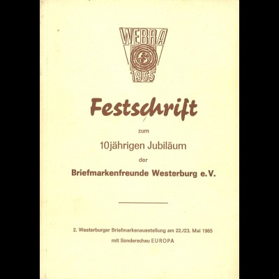 2. Westwerburger Briefmarkenausstellung 1965, Sonderschau EUROPA