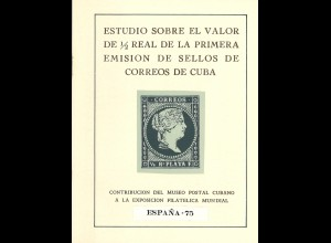 Estudio sobre el Valor de 1/2 real de la primera Emision ... de Cuba