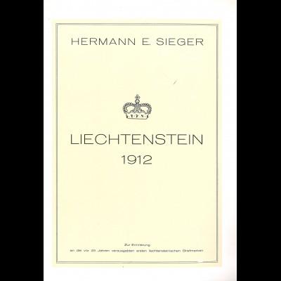 Liechtenstein. Bestand ex Konsul Hermann Walter Sieger (2 Bücher etc.)