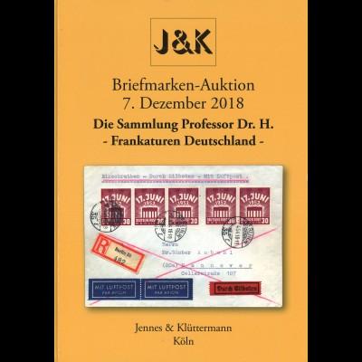 73. Jennes & Klüttermann-Auktion 7.12.2018: Frankaturen Deutschland