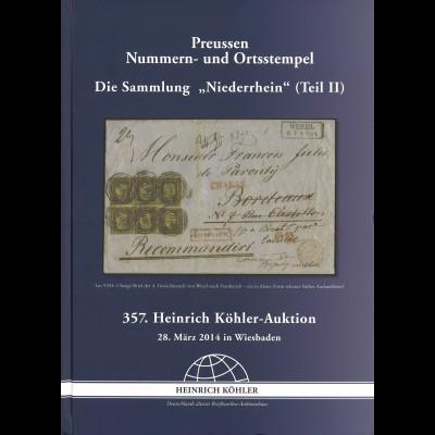 PREUSSEN: 357. Köhler-A. März 2014: Preußen Nummern- und Ortsstempel (Teil II)