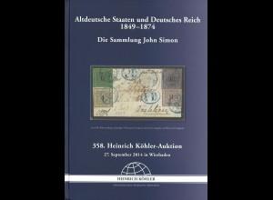 358. H. Köhler-Auktion: Altdeutsche Staaten und Deutsches Reich 1849-1874