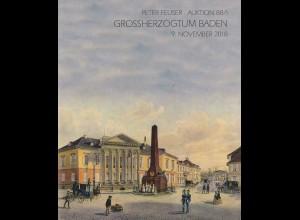 Peter Feuser-Auktion 88/1, 9.11.2018: Grossherzogtum Baden