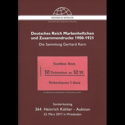 364. H.-Köhler-Auktion. März 2017: Deutsches Reichen Markenheftchen ...