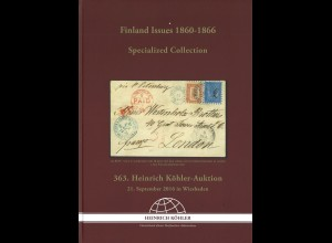 363. H.-Köhler-Auktion. Sept. 2016: Finland Issues 1860–1866