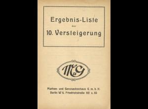 Marken- und Ganzsachenhaus, Berlin: 10. Auktion von Rudolf Siegel (Nov. 1920)